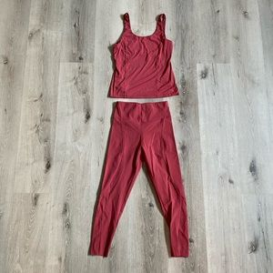 NWOT Pink Oysho Workout Leggins+ Top